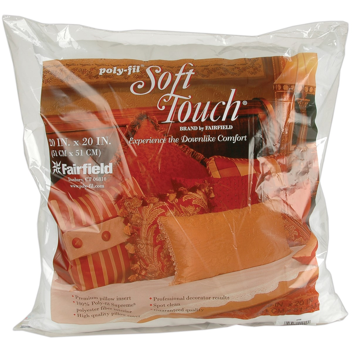 Fairfield Pillow Form Soft Touch PF Supreme 20 Sq