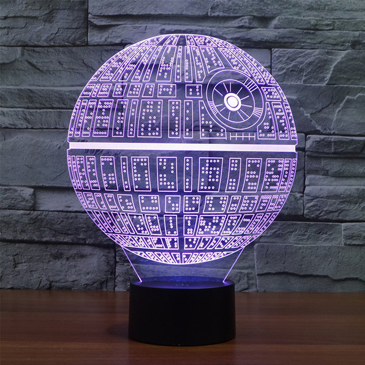 VicTsing Creative Star Wars LED 3D Night Light Soft, Ambient Lighting for Desk Lamp Home Lighting Bulbing Graded Color