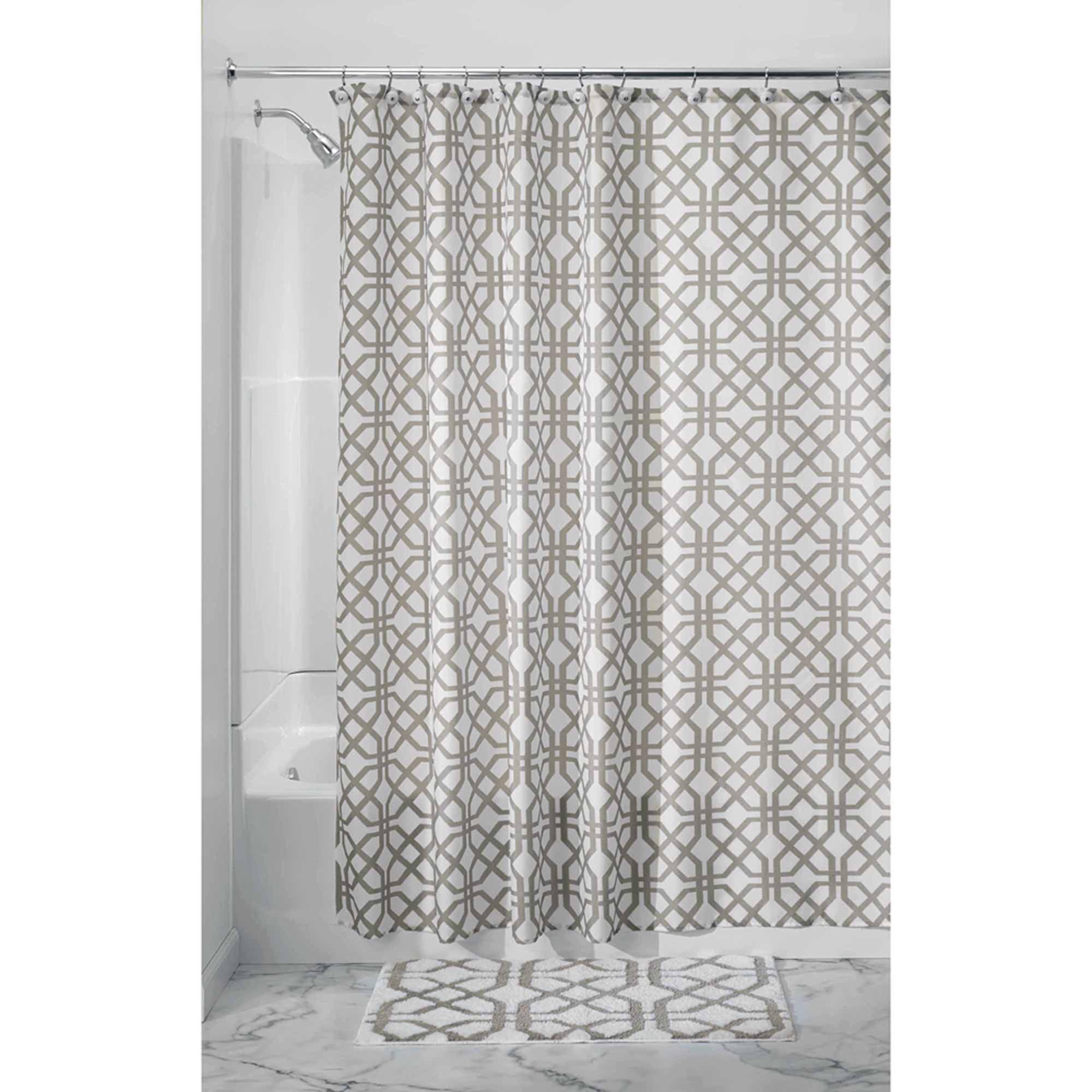 InterDesign Trellis Fabric Shower Curtain Various Colors