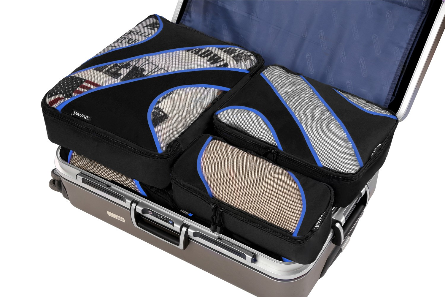 Happy Purple Dragon 3 Set Packing Cubes,2 Various Sizes Travel Luggage Packing Organizers r