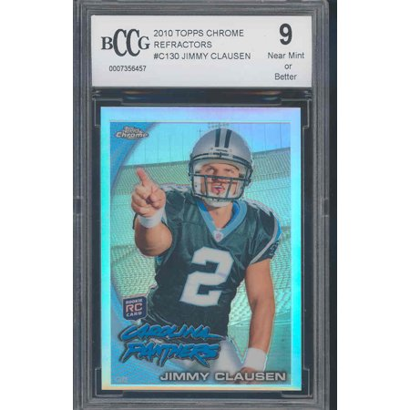 2010 topps chrome refractors #c130 JIMMY CLAUSEN rookie BGS BCCG 9 (Topps Heritage Chrome Refractors)