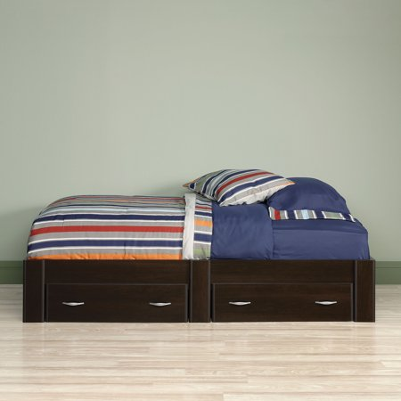 Sauder Beginnings Twin Platform Bed  Cinnamon Cherry. Sauder Beginnings Twin Platform Bed  Cinnamon Cherry   Walmart com