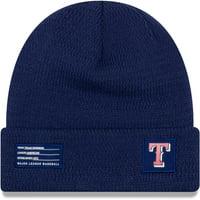 Texas Rangers New Era On-Field Sport Cuffed Knit Hat - Royal - OSFA
