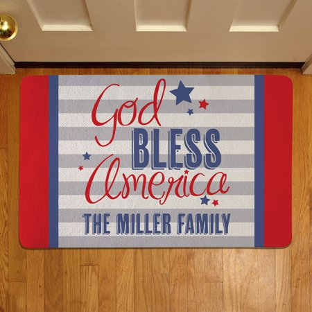 Personalized God Bless America Doormat