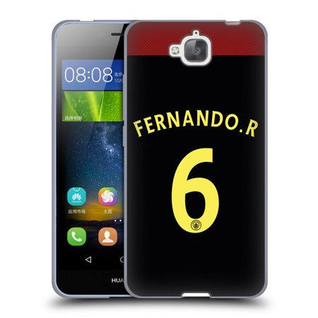 Official Manchester City Man City Fc Away Kit 2016 17 2 Soft Gel Case For Huawei Phones 2