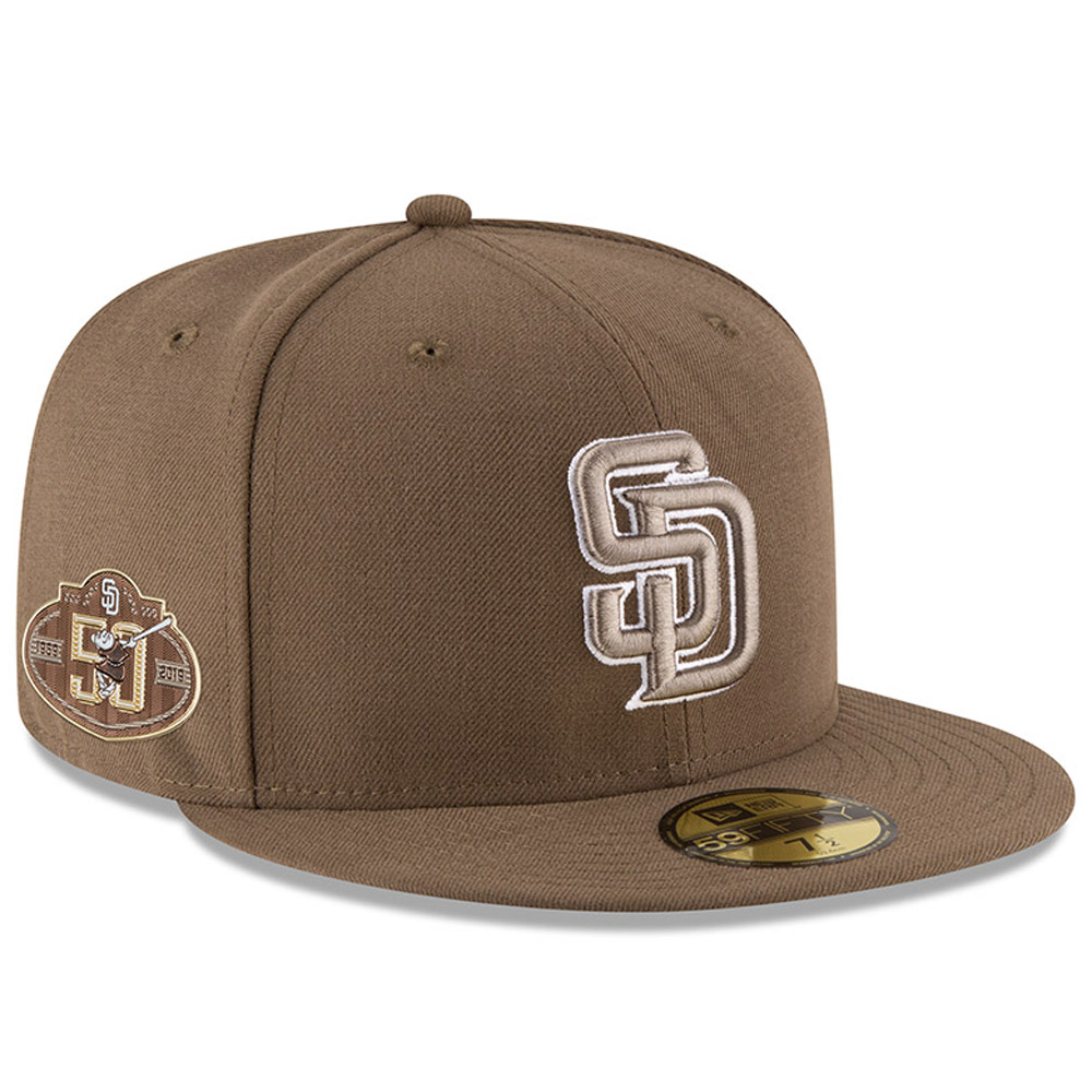 San Diego Padres New Era 50th Anniversary Authentic Collection On-Field 59FIFTY Fitted Hat - Brown