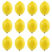 12pcs Fake Fruit Lemons Artificial Simulation Lemon Decorations for Home Kitchen;12pcs Fake Fruit Lemons Artificial Simulation Lemon Decorations for Kitchen