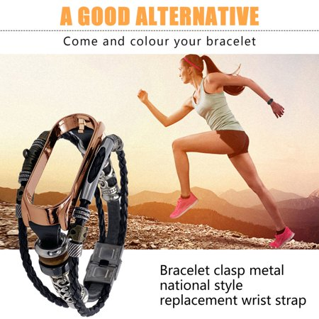 For Mi Band 4 Bracelet Retro Leather Wristband Strap for Xiaomi Mi Band 4 - image 7 of 9