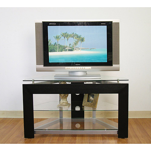 Metal and Glass TV Stand, for TVs up to 42""