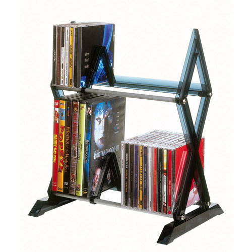 Atlantic Mitsu 2-Tier Media Rack, Smoke by Atlantic