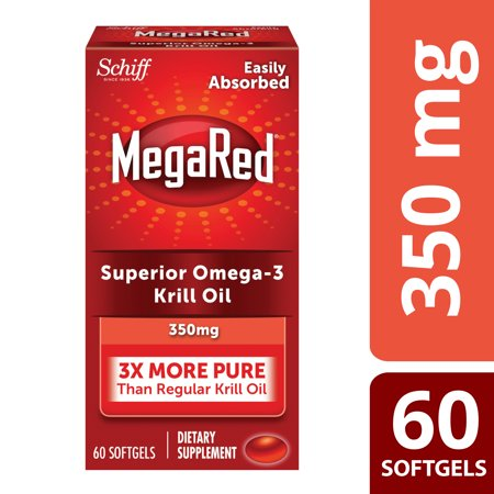 Mega Red Superior Omega 3 Krill Oil  350Mg  60 Softgels