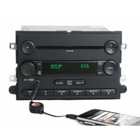 2006 Ford Fusion Milan Am Fm Cd Player Radio W Auxiliary Input   6E5t 18C869 Bj   Refurbished