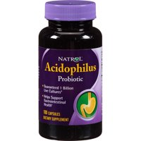 Natrol Acidophilus Probiotic Capsules, 100 count (Pack of 3)