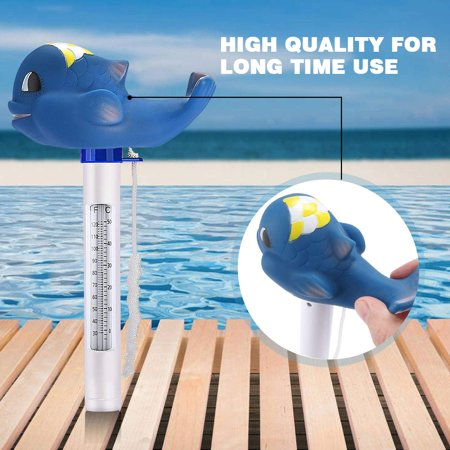 Floating Pool Thermometer, Swimming Pool Thermometer with String, Floating Thermometer for Swimming Pool, Bath Water, Spas,Hot Tubs, Aquariums and Fish Ponds (Shark) - image 7 of 7