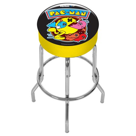Excellent Pac Man Adjustable Stool Arcade1Up Alphanode Cool Chair Designs And Ideas Alphanodeonline