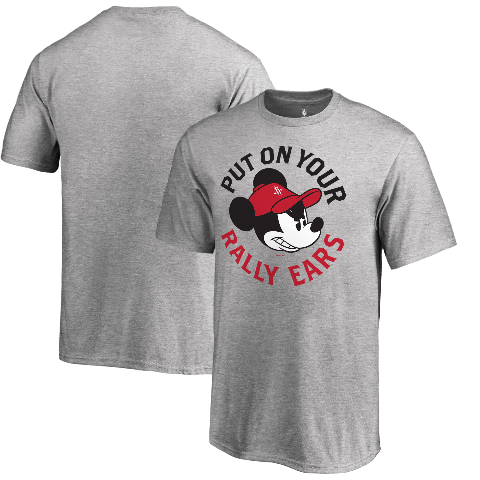 Houston Rockets Fanatics Branded Youth Disney Rally Ears T-Shirt - Ash