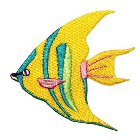 ID 0236 Tropical Angel Fish Fishing Iron On Applique Patch