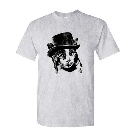 ORANGE CHARLES STEAMPUNK CAT - kitty - Cotton Unisex T-Shirt](Steampunk Clothes)