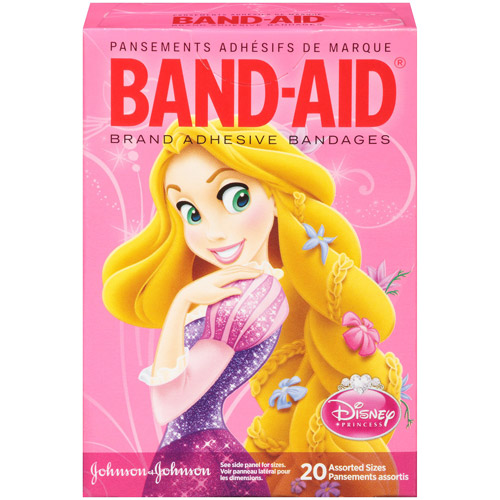 Band-Aid Brand Adhesive Bandages featuring Disney Princesses, Assorted Sizes, 20 Count