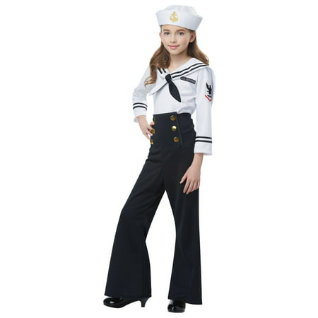 Navy / Sailor Girl's Costume - Walmart Sailor Costume