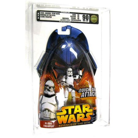 Clone Trooper Action Figure Quick Draw Attack, AFA 90 Star