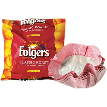 Folgers Coffee Classic Roast Ground Coffee Filter Packs, 0.9 Oz - 40 Ct