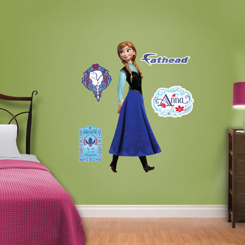 Fathead Junior Disney Frozen Anna Wall Decal