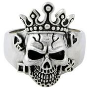 Hellfire Jewelry HellFire Sterling Silver Joker King Skull Ring