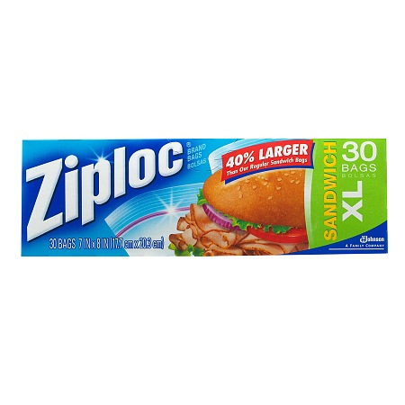 Ziploc XL Sandwich Bags 30.0 ea (Pack of 12)