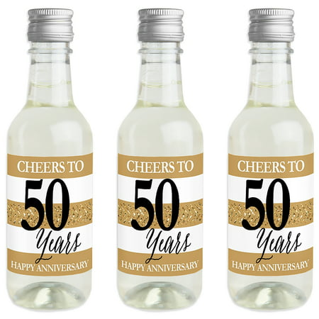 We Still Do - 50th Wedding Anniversary - Mini Wine and Champagne Bottle Label Stickers - Anniversary Party Favor Gift - Wine Party Favors