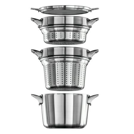Calphalon Premier Space Saving Stainless Steel 8-Quart Multi-Pot
