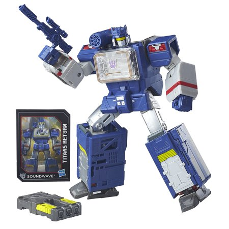 Transformers Generations Titans Return Soundwave and Soundblaster, Leader Class Soundwave and Titan Master Soundblaster figures By Hasbro](Halloween Sounds Wav)