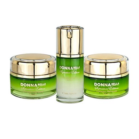 Omorovicza Radiance Renewal Serum - Donna Bella Caviar Signature Collagen Radiance Renewal Set - Facial Skin Care Kit (Cream, Mask & Serum) - Contains Peptides, Pure Caviar & Gold