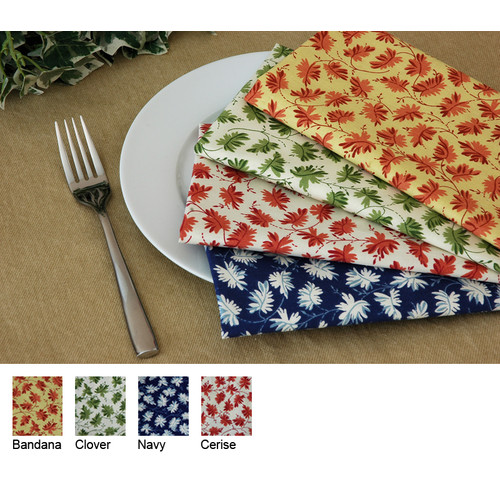 Pacific Table Linens Denim Table Linen and Placemats Cercie Dinner Napkin (Set of 2)