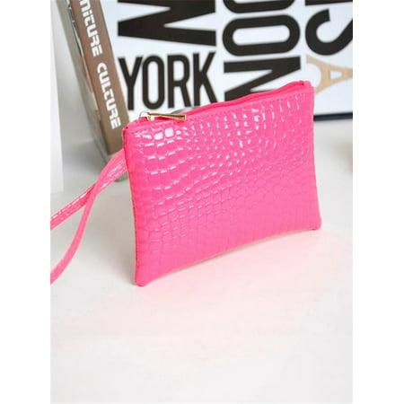 b55cc208462e Women Crocodile Leather Clutch Handbag Bag Coin Purse Wallet HOT