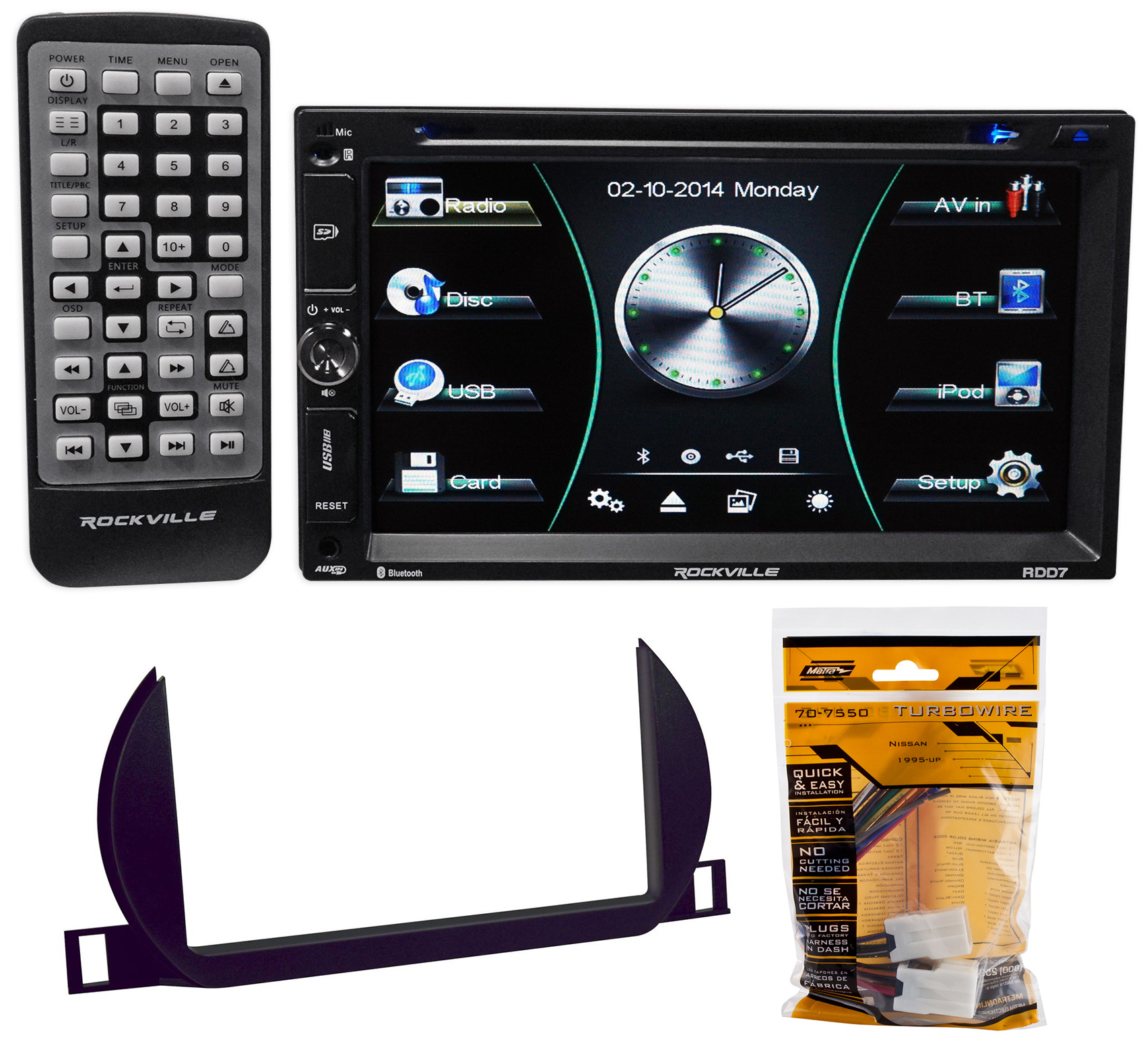 DVD/iPhone/Spotify/Bluetooth/USB Receiver For 2002-2004 Nissan Altima
