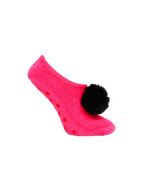 631db1bc8 Product Image Betsey Johnson Chenille Slipper Socks with Pom