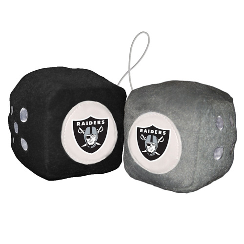 NFL Oakland Raiders Football Team Fuzzy Dice - Generic Brand