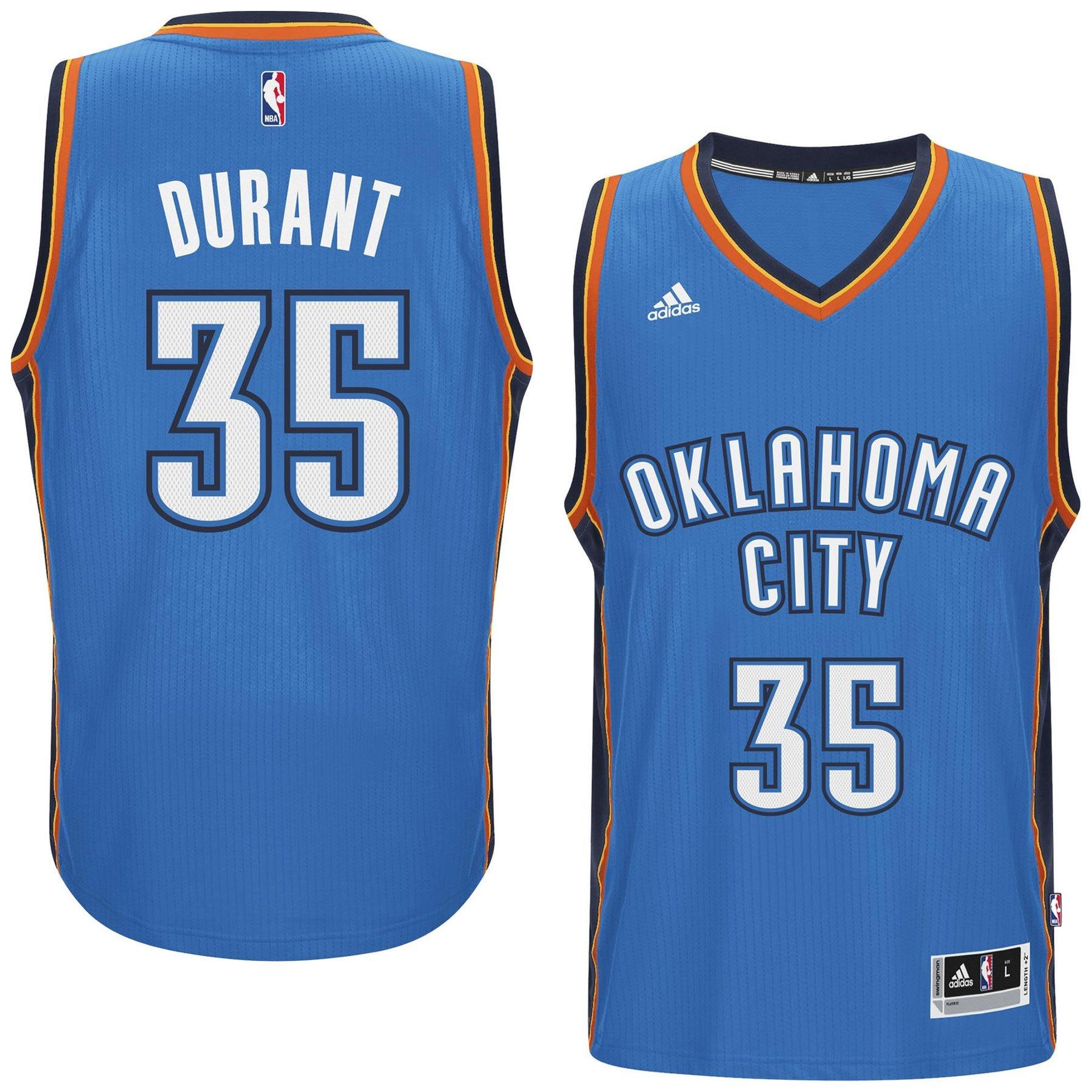 promo code 37ed5 85077 Kevin Durant Oklahoma City Thunder NBA Swingman Road Replica ...