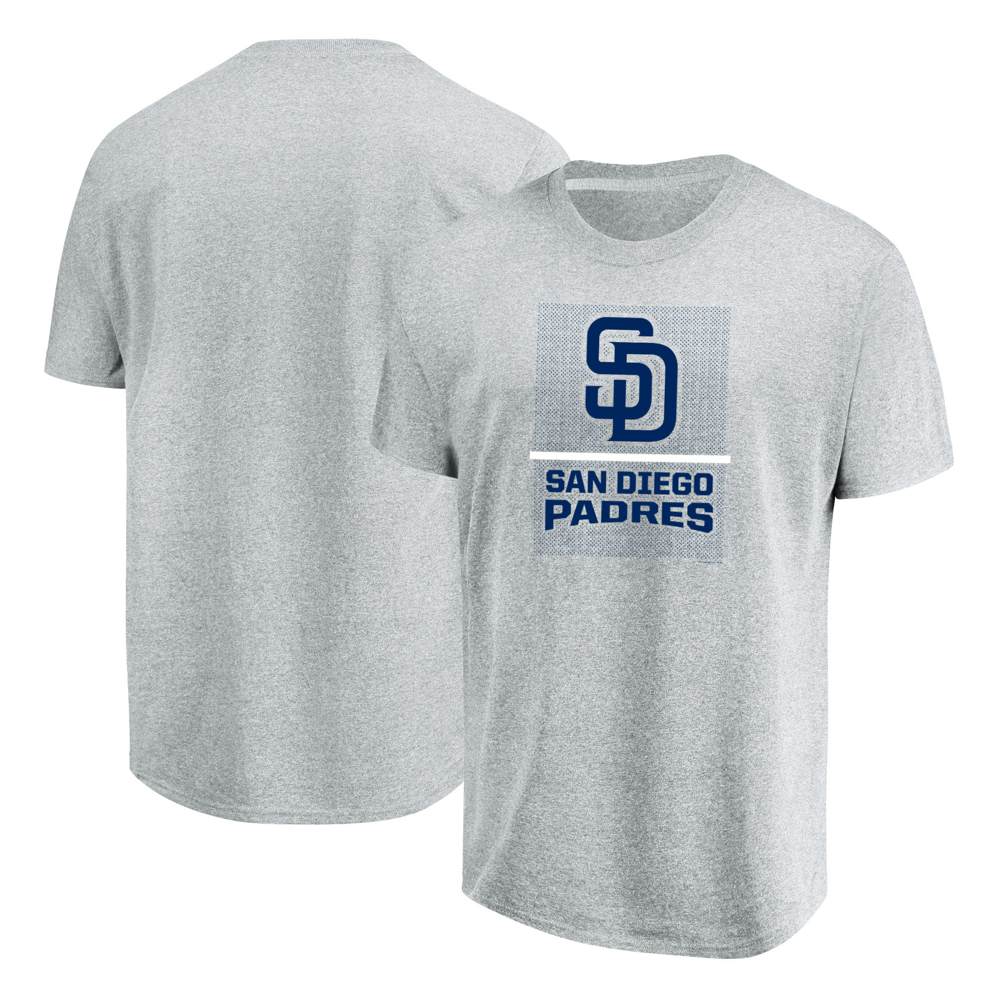 San Diego Padres Majestic Flying High Big & Tall T-Shirt - Heathered Gray
