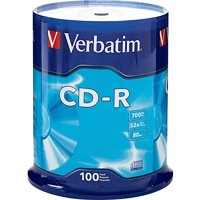 Verbatim, VER94554, 52X Speed Branded CD-R, 100