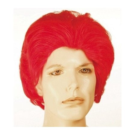 Ronald McDonald Red Wavy McDonalds Mens Red Clown Wig  Halloween - Ronald Mcdonald Halloween Costumes