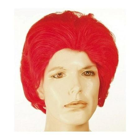 Ronald McDonald Red Wavy McDonalds Mens Red Clown Wig  Halloween - Halloween Costume Red Wig