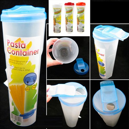 - Pasta Container Food Storage Spaghetti Cereal Keeper Plastic Tall Jar Lid Tupper