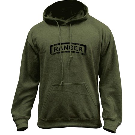 Vintage Army Ranger Badge Subdued Veteran Pullover Hoodie Sweatshirt