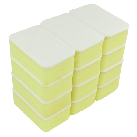 12 Pcs Yellow White Soft Wax Waxing Polishing Sponge for Auto Cars - image 1 of 1
