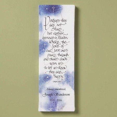 Personalized Stars in Heaven Canvas Wall Decor