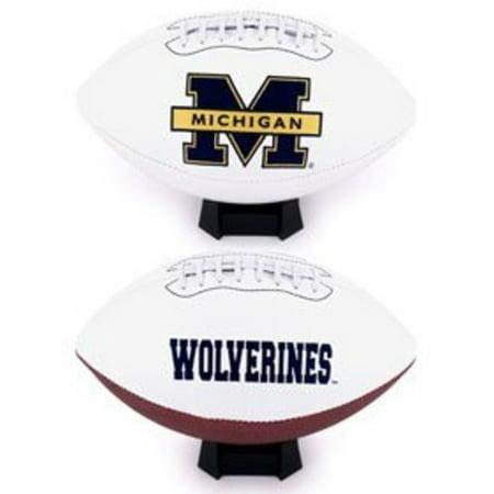NCAA Signature Full Size Football [] Michigan Wolverines Brown Football