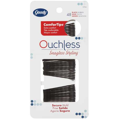 48pk Goody Ouchless Black Bobbies