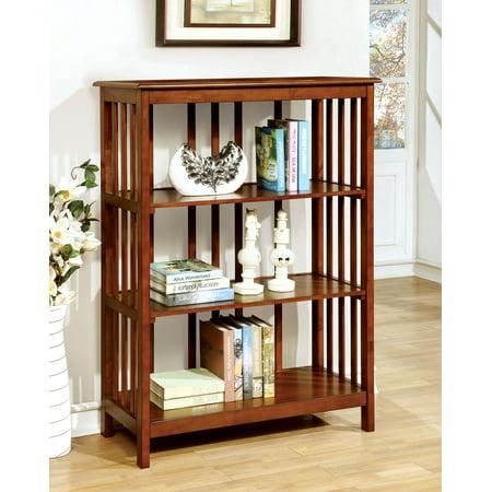 Furniture of America Erwin Mission Style Bookcase, Oak